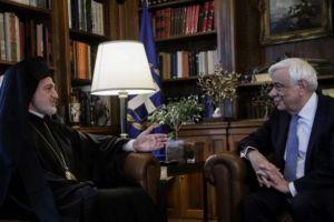 Ο Αρχιεπίσκοπος Αμερικής Ελπιδοφόρος στον Πρόεδρο της Δημοκρατίας