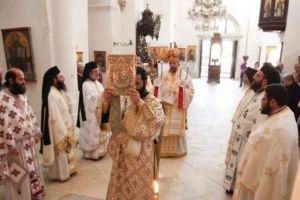 Θεία Λειτουργία στην κατεχόμενη Μονή Αποστόλου Βαρνάβα στην Κύπρο