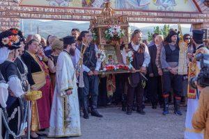 Αντίγραφο της εικόνας της Παναγίας Σουμελά στο Λευκότοπο Σερρών