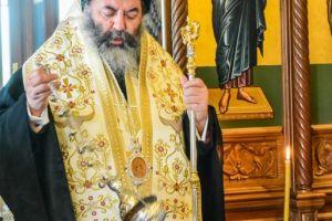 Τρισάγιο στη μνήμη του Γέροντος Αιμιλιανού Σιμωνοπετρίτου από τον Σεβ. Λαγκαδά Ιωάννη
