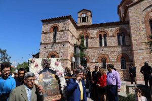 Με λαμπρότητα ο εορτασμός στη Ζωοδόχο Πηγή, στο λόφο Δάφνης