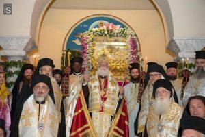 Πατριάρχης Αλεξανδρείας Θεόδωρος από τον Βόλο: «Το Ευαγγέλιο μετέτρεψε την Μεσόγειο σε θάλασσα Αποστολική»  Πατριαρχική τιμή στην εορτή  της Αναλήψεως στον Βόλο