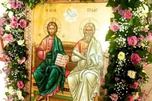 Η εορτή της Πεντηκοστής στην Αγία Τριάδα Ασπροπύργου της Μητροπόλεως Αττικής Γ.Ο.Χ.