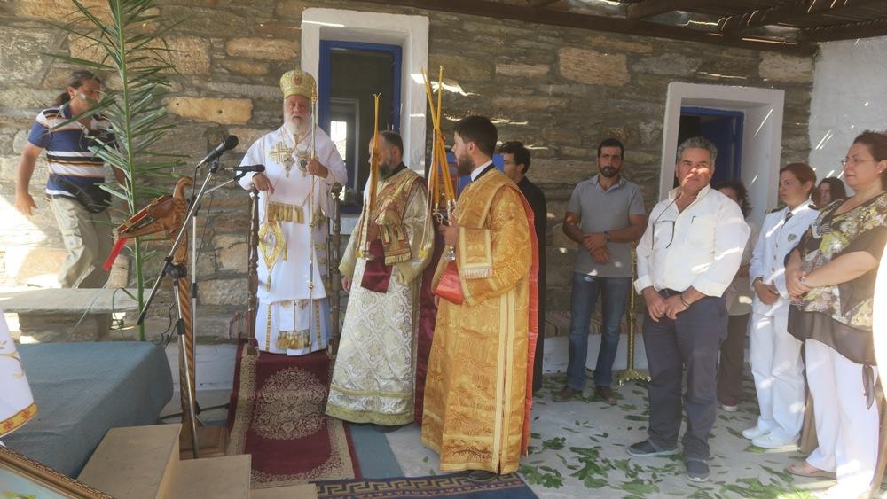 Στην αρχαία πόλη Καρθαία στην Κέα, ιερούργησε ο Μητροπολίτης Σύρου Δωρόθεος
