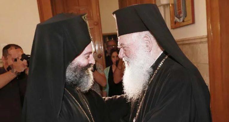 Ο Αυστραλίας Μακάριος στον Αρχιεπίσκοπο Αθηνών Ιερώνυμο