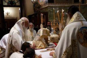 Κυριακή της Πεντηκοστής στην Μητρόπολη Αθηνών με Προεξάρχοντα τον Αρχιεπίσκοπο