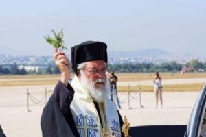 Ο Ιλίου Αθηναγόρας στην τελετή παραλαβής αεροσκαφών στη Δεκέλεια