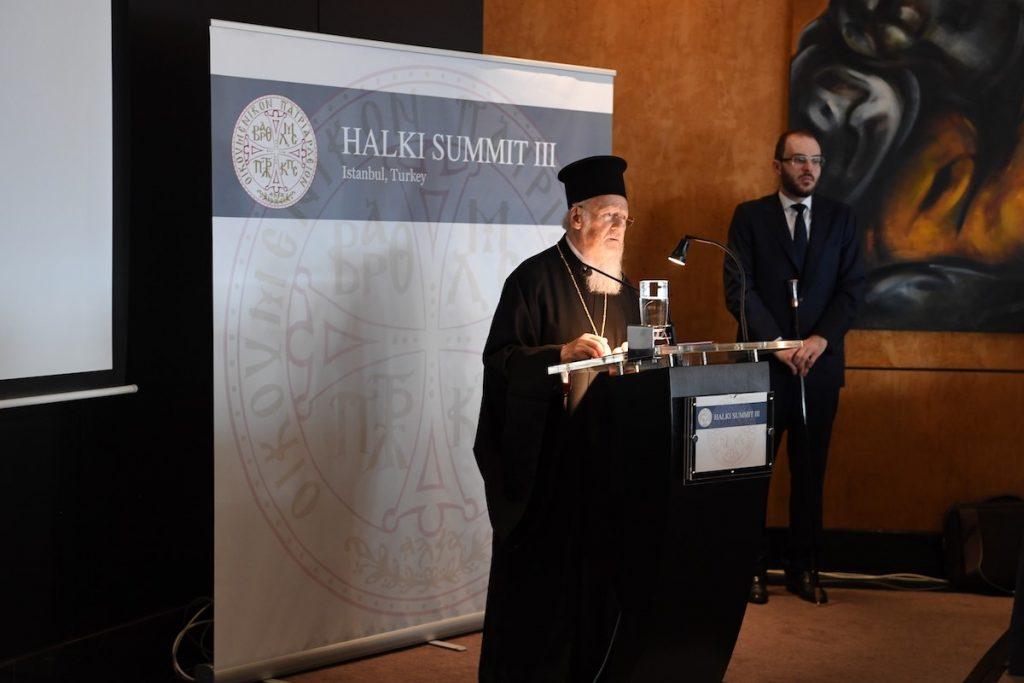 """Ο Οικουμενικός Πατριάρχης κήρυξε την έναρξη των εργασιών της Γ΄ Διεθνούς """"Διάσκεψης της Χάλκης"""""""