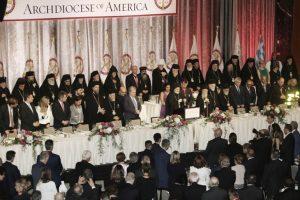 Ελπιδοφόρος και Δημήτριος πρωταγωνίστησαν στο επίσημο γεύμα και έδωσαν μαθήματα ενότητας και εκκλησιαστικού ήθους.