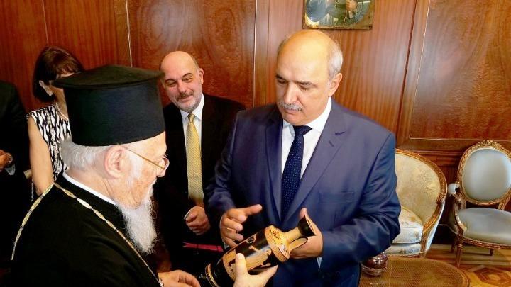 Το δώρο του Μ. Μπόλαρη στον Οικουμενικό Πατριάρχη