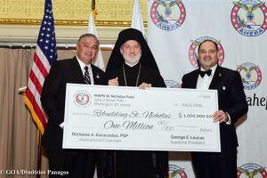 Ολοκληρώθηκε η δωρεά $1.000.000 από την AHEPA για την ανοικοδόμηση του Αγίου Νικολάου στη ΝΥ