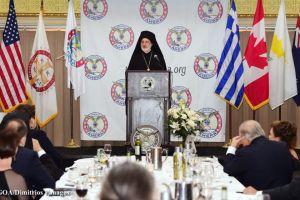 Ο Αρχιεπίσκοπος Αμερικής στο Επίσημο Δείπνο της AHEPA
