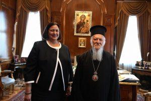 Επίσκεψη της νέας Γενικής Προξένου των ΗΠΑ στην Πόλη  στο Οικουμενικό Πατριαρχείο