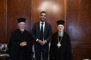 Ο νέος Δήμαρχος Αθηναίων Κώστας Μπακογιάννης στον Οικουμενικό Πατριάρχη