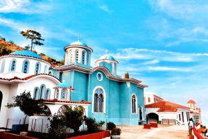 Η εορτή του Αγίου Αθανασίου του Αθωνίτου στην Ι.Μ. των Αγίων Πατέρων Χίου