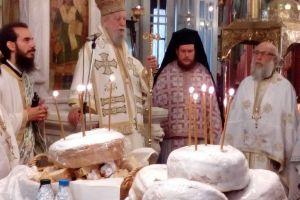 Ο Γέρων Μητροπολίτης Καρυστίας Σεραφείμ στην γενέτειρά του