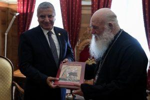 Συνάντηση Αρχιεπισκόπου με τον νέο Περιφερειάρχη Αττικής Γιώργο Πατούλη