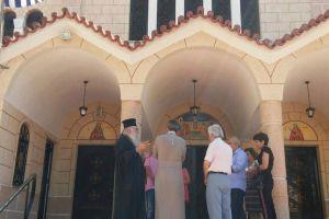 Τους πληγέντες από τον σεισμό ναούς επισκέφθηκε ο Μητροπολίτης Περιστερίου