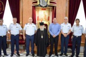 Αντιπροσωπεία της Πολεμικής Αεροπορίας στο Πατριαρχείο Ιεροσολύμων