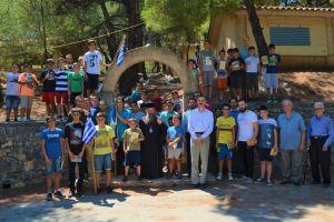 Επίσκεψη του Μητροπολίτη Χίου στην κατασκήνωση «Άγιος Κοσμάς»