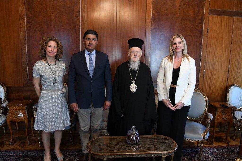 Ο Υφυπουργός Πολιτισμού και Αθλητισμού της Ελλάδος στο Οικουμενικό Πατριαρχείο