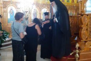 Ο Μητροπολίτης Περιστερίου κ. Κλήμης στην Ιερά Παράκληση στον Ιερό Ναό Παμμεγίστων Ταξιαρχών Μάσχα