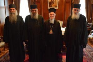 Αντιπροσωπεία της Ιεράς Κοινότητας του Αγίου Όρους στο Φανάρι