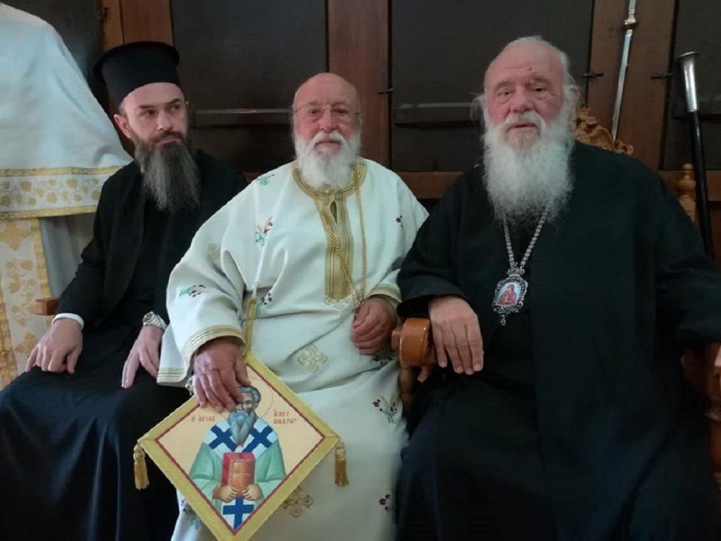 Ο Αρχιεπίσκοπος στα Ονομαστήρια του παλαιού φίλου του Μητροπολίτη Μαντινείας Αλεξάνδρου