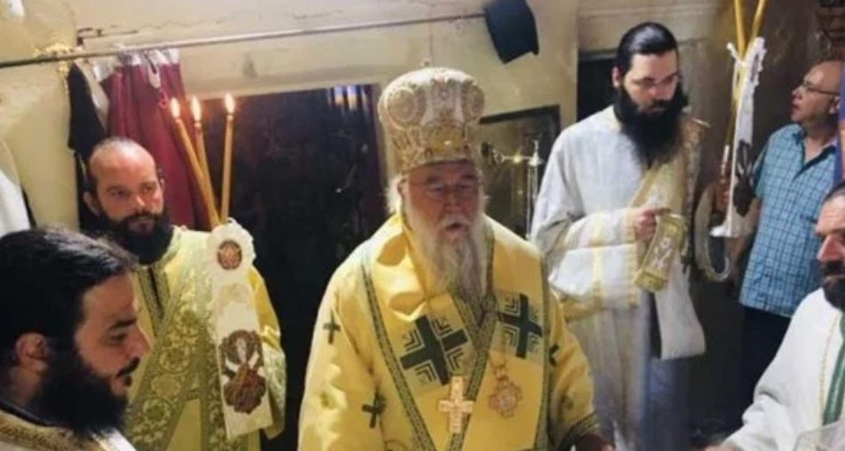 You are currently viewing Ο Κερκύρας Νεκτάριος στην ιστορική Ιερά Μονή Υψηλού Παντοκράτορος