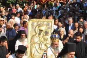 Η Κοίμηση της Θεοτόκου στη Μονή της Παναγίας της Εικοσιφοινίσσης στη Δράμα.