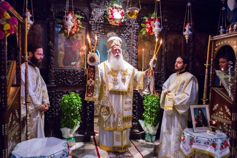 Πανηγυρική Θεία λειτουργία στην Ιερά Μονή Αγάθωνος Προεξαρχοντος του Τοποτηρητή της Ιεράς Μητροπόλεως μας