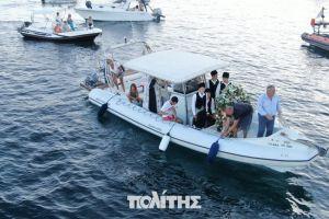 Η παραδοσιακή  διά θαλάσσης μεταφορά της εικόνας του Αγ. Αιμιλιανού στην Καλλιμασιά της Χίου