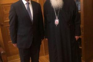 Με τον υπουργό Οικονομικών κ. Σταικούρα συναντήθηκε ο Αρχιεπίσκοπος