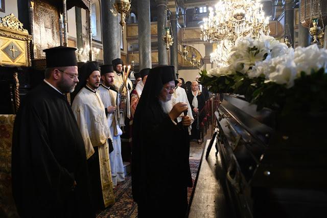 Η κηδεία του αειμνήστου Άρχοντος Λαμπαδαρίου της Αγίας του Χριστού Μ. Εκκλησίας Ιωάννου Χαριατίδου