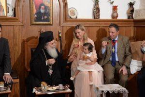 Ο Γεν. Πρόξενος της Ελλάδος στην Αδελαΐδα βάφτισε το παιδί του στα Ιεροσόλυμα