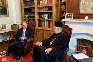 Ο νέος Πρέσβυς της Ελλάδoς στο κέντρο της Ευρώπης επισκέφθηκε τον Μητροπολίτη Βελγίου