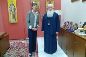 Επίσκεψη της Βρετανίδας Πρέσβειρας στον Μητροπολίτη Δημητριαδος Ιγνάτιο