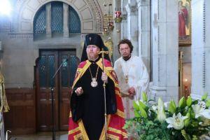 Ο ΑρχιεπίσκοποςΤσερνιχίβ κ. Ευστράτιος στο Παρίσι