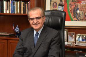Συνάντηση ΥΦΥΠΕΞ κ. Αντώνη Διαματάρη με Γέροντα Αρχιεπίσκοπο Σινά Δαμιανό