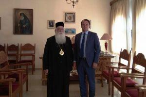 Ο Πρέσβης της Ουκρανίας στην πόλη της Λαμίας.