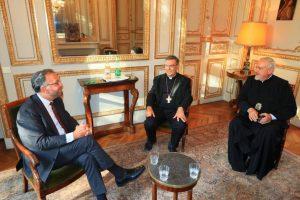 Συνάντηση του Μητροπολίτη Γαλλίας Εμμανουήλ  με τον Ρωμαιοκαθολικό Αρχιεπίσκοπο Παρισίων Michel Aupetit