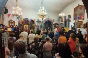 Οι Άγιοι Ισίδωροι Λυκαβηττού  πανηγυρίζουν την Ύψωση του Τιμίου Σταύρου