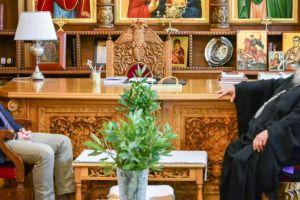 Ο Γεν. Πρόξενος ΗΠΑ στη Θεσσαλονίκη επισκέφθηκε  τον Σεβ. Μητροπολίτη Λαγκαδά Ιωάννη