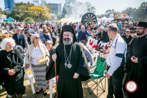 """Ο Αρχιεπίσκοπος Αυστραλίας Μακάριος στο """"Let's Go Greek Festival, Parramatta"""""""