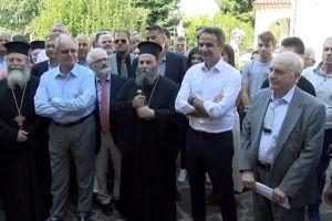 Τη Μονή Βελλάς επισκέφθηκε ο Πρωθυπουργός και ξεναγήθηκε από τον Σεβ. Ιωαννίνων Μάξιμο