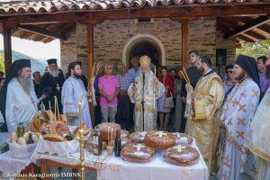 Αρχιερατική Θεία Λειτουργία ενώπιον της Κάρας του Οσίου Δαβίδ του εν Ευβοία από τον Σεβ.Βεροίας Παντελεήμονα