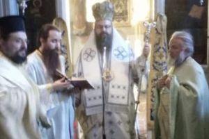 Ο Μεγάρων Κωνσταντίνος στην Ιερά Μονή Προφήτη Ηλία Ερυθρών