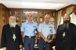 Ο Αστυνομικός Διευθυντής Πελοποννήσου στον Μητροπολίτη Κορίνθου Διονύσιο