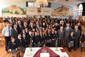 Ο Αρχιεπίσκοπος Αμερικής στον αγιασμό στο ελληνικό σχολείο του Αγ. Δημητρίου