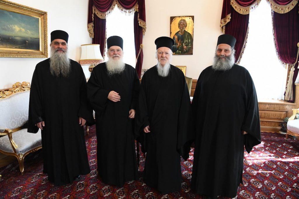 Προσκυνηματική επίσκεψη του Γέροντα  της Μονής Βατοπαιδίου και Αγιορειτών πατέρων στο Φανάρι